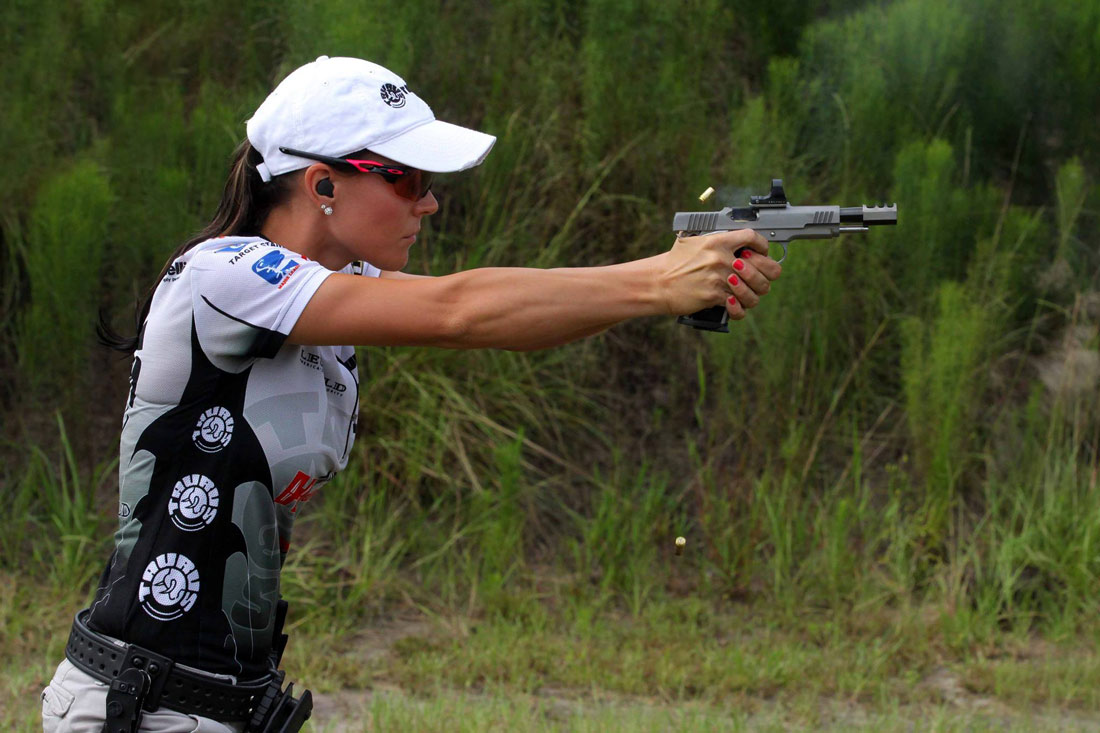 Picture shows Jessie Duff, competitive shooter.