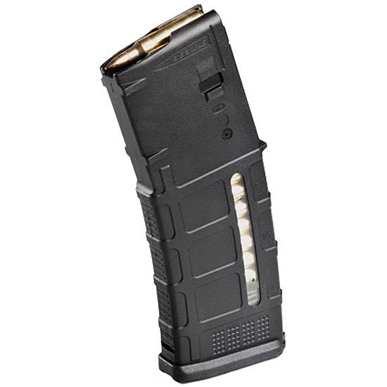 Picture shows a black Magpul PMAG Gen 3 AR-15 rifle magazine.