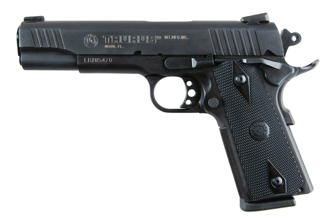 The Taurus 1911 single-action, semi-automatic 45 ACP has a long list of useful features.