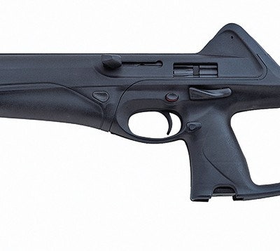 The Beretta Storm carbine in black on a white background, facing left.