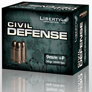 modeled box of Liberty Ammunition's Civil Defense