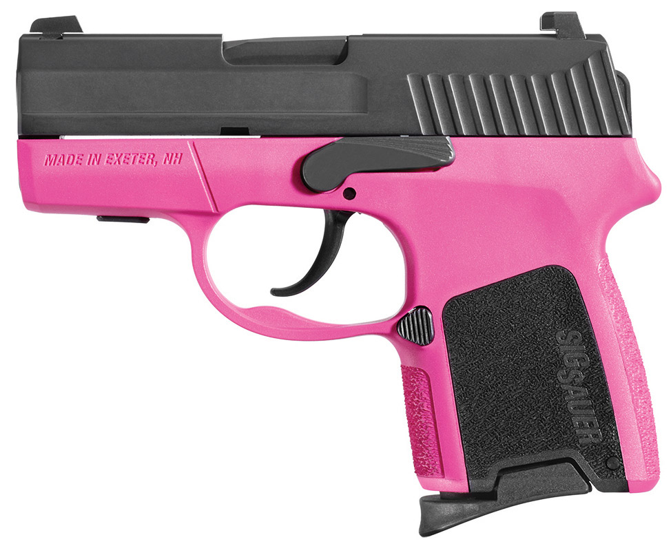 SIG Sauer P290RS-380 .380 ACP pistol with pink lower