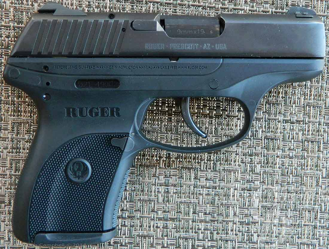 Ruger LC9 with stippled grip