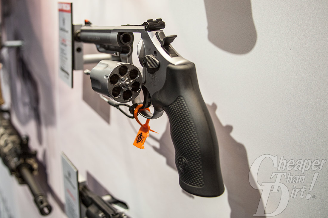 Picture shows the back of the S&W model 66 revolver.