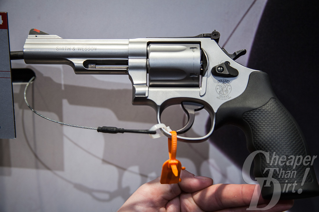 Picture shows the glass-bead stainless steel finished S&W Model 69 revolver with a 4.25-inch barrel.