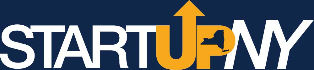 Start up New York logo with Navy Blue and Yellow