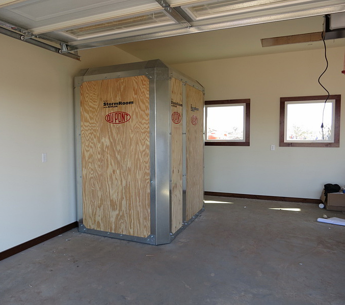 30 days of preparing for spring storms and the stinging for Garage safe room