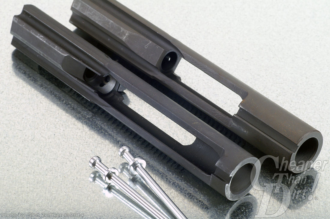 Bolt carrier assembly the heart of an ar 15 black bolt carrier assembly on a light gray background sciox Images