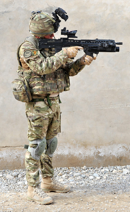 British Soldier Wearing Osprey MK4 Armor Carrier