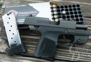 Black SIG P290 and .380 Ammunition