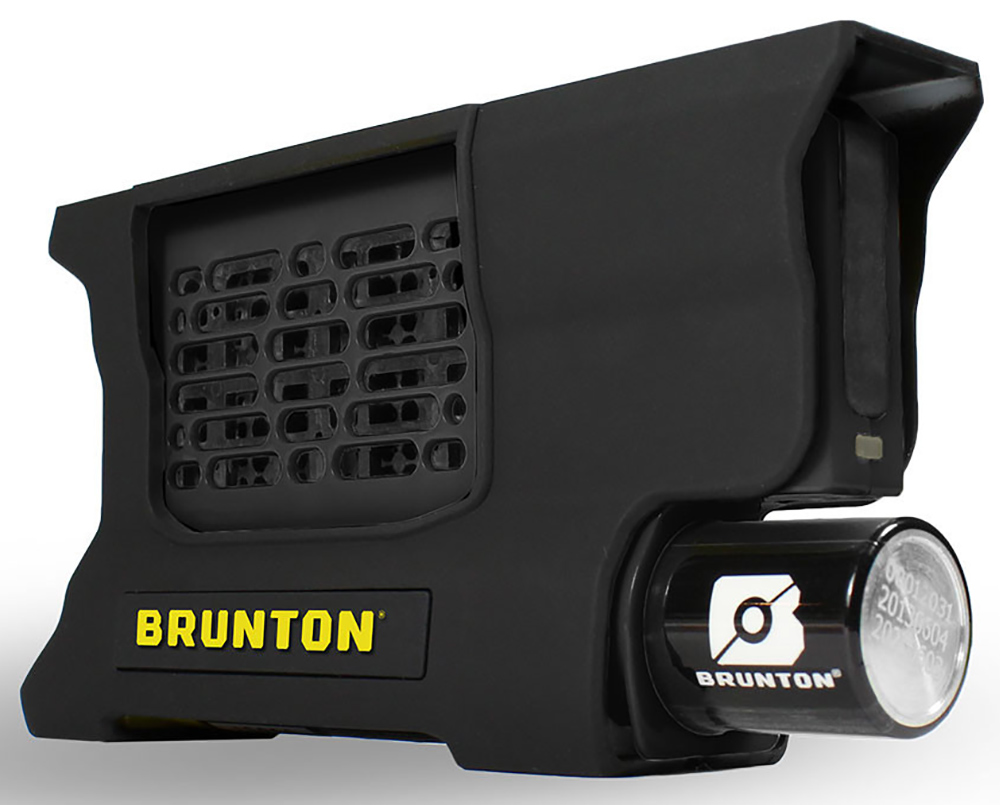 Picture shows Brunton's hydrogen Reactor fuel cell pack that charges small electronics without power or sunlight.