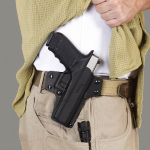 Galco offers first-class concealment gear. Just the same, some thought and effort must go into concealing a service-grade handgun.