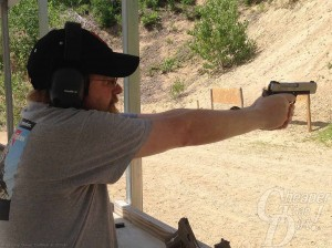 Shooter with Sig Sauer 1911 C3