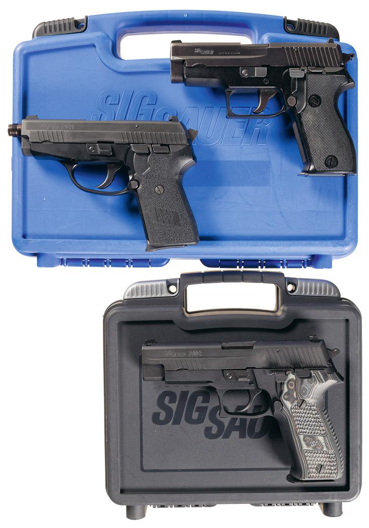 Three Sig Sauer Semi-Automatic Pistols