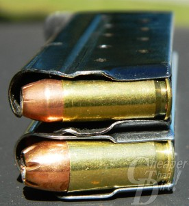 Comparing 9-round .38 and 7 rounds .45 ACP
