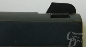 Black SIG Ultra Front Post Sight on gray background.
