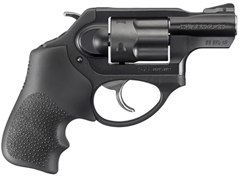 Picture shows a Ruger LCRx, a small revolver with exposed hammer.