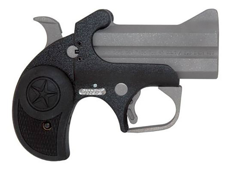 Picture shows a black and gray Derringer.