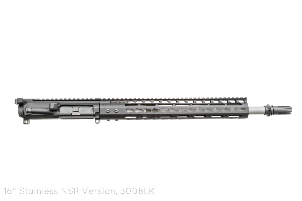 Picture shows a black finished Noveske AR-15 upper assembly complete with barrel and handguard.