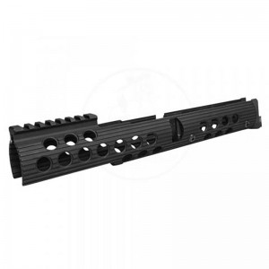 Black, extended handguard from the AK-47