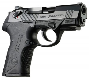 Picture shows Beretta's PX4 Stom 9mm compact pistol.