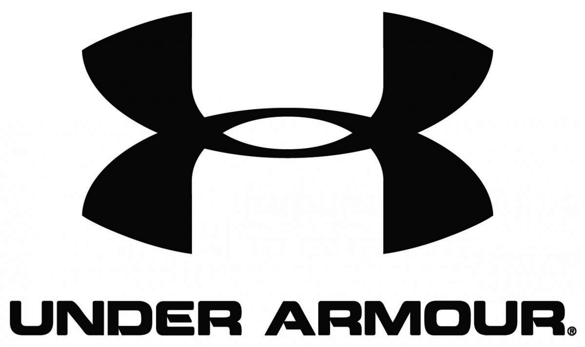 Picture shows the clothing line Under Armour's black and white logo.