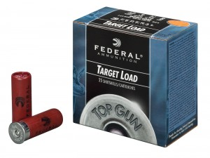 Blue box of Federal Load for Target Practice Only on a white background
