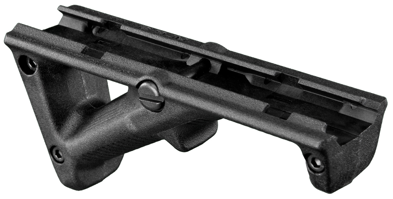 Picture shows Magpul's AFG-2 angled foregrip