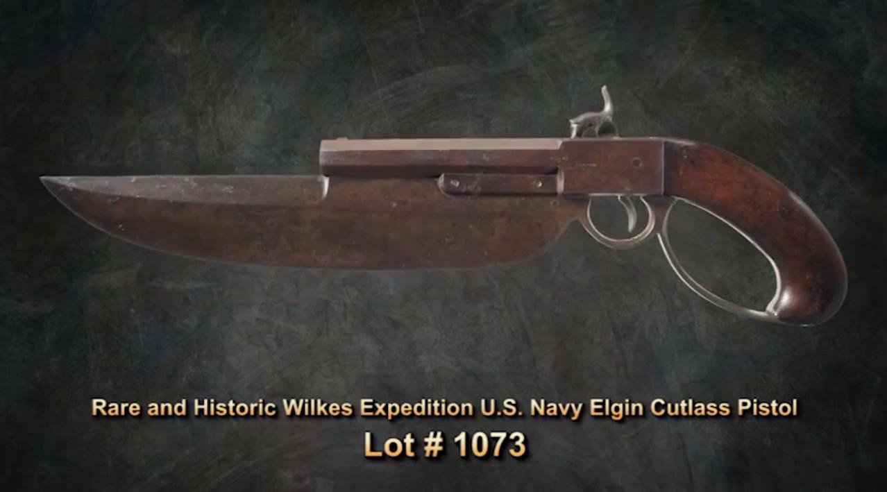 Wilkes Expedition U.S. Navy Elgin Cutlass Pistol