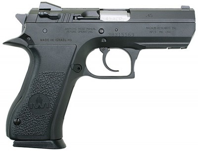 Black Baby Desert Eagle, barrel to the right on white background