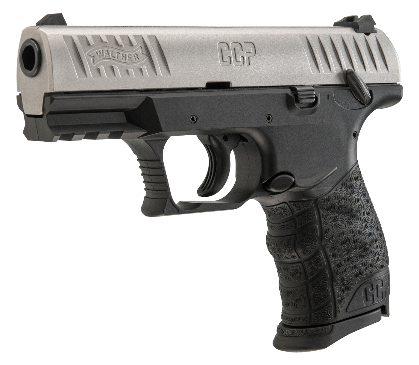 Walther CCP 9mm Two Tone Left Angle Safety On