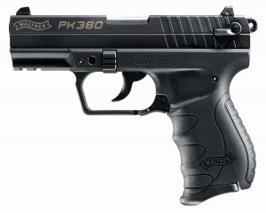 Left side of the Walther PK380 .380 ACP semiauto pistol