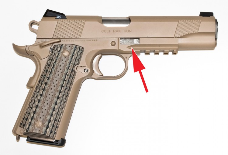 Colt M45A1CQBP Profile with Muzzle Right