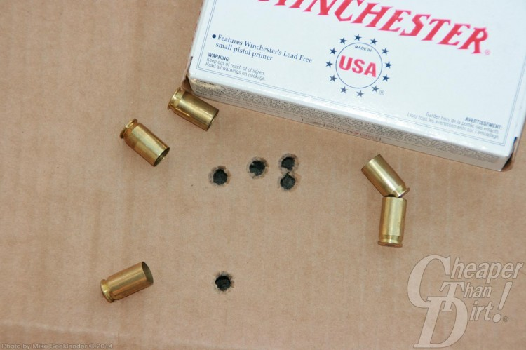 Colt M45A1 CQBP Target and Winchester .45 Ammunition