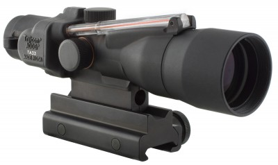 black ACOG rifle scope