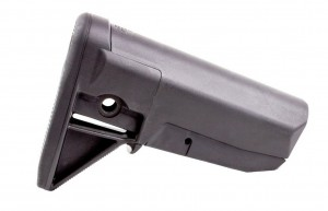 Black, lightweight AR-15 stock