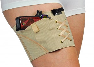 Nude corset-looking thigh holster for women