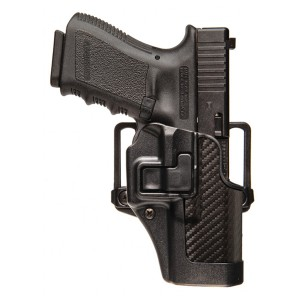 Black belt holster with GLOCK
