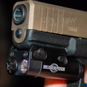 Close up of SureFire compact pistol light
