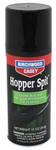 Black aersool can of Birchwood Casey gun protectant, anti-rust and anti-corrosion