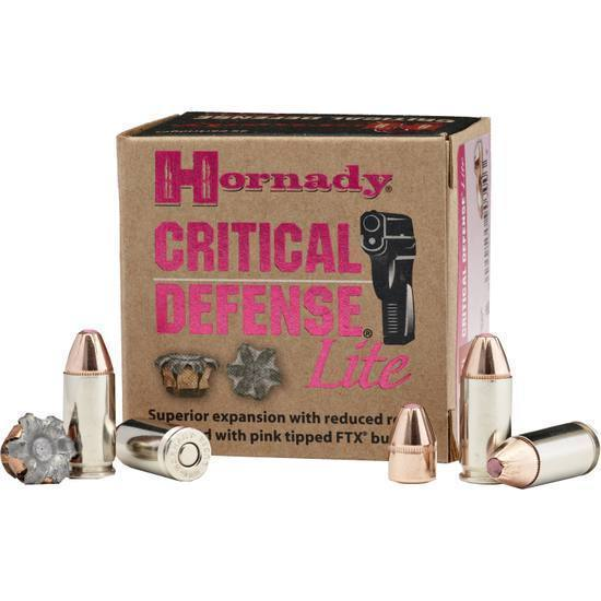 Brown box of Hornady Critical Defense 9mm ammo