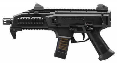 Black, polymer framed CZ Scorpion EVO 3 9mm pistol