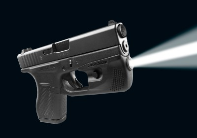 Glock model 42 with lasermax centerfire weaponlight