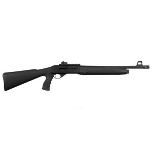 Black semiautomatic shotgun