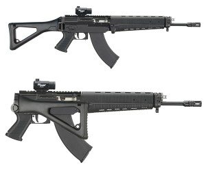 SIG Sauer's 556 rifle with foldiing stock