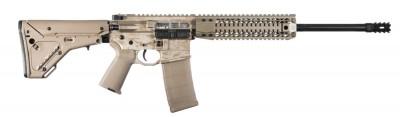 All tan AR-15 built by Black Rain.