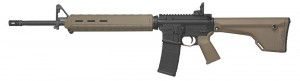 Colt AR-15 with Magpul FDE furniture, fixed stock and 20-inch barrel