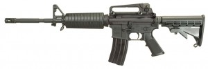 Black Windham MPC AR-15 rifle with sights