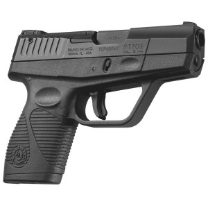Black Taurus handgun chambered in 9mm