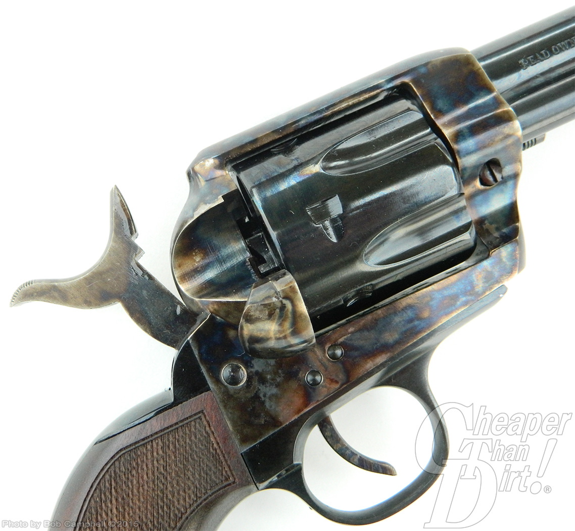 Traditions 1873 revolver in half-cock position